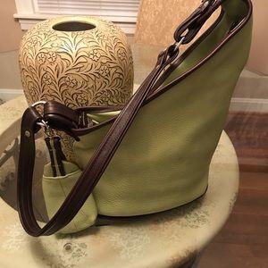 Handbags - Altai Shoulder Bag Beautiful Pebble Leather Green